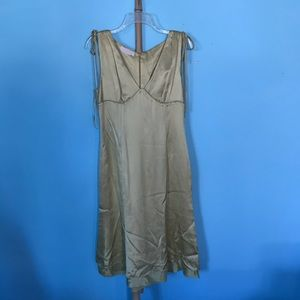 NWOT VTG Valentino Spa Silk Dress Chartreuse 8 M